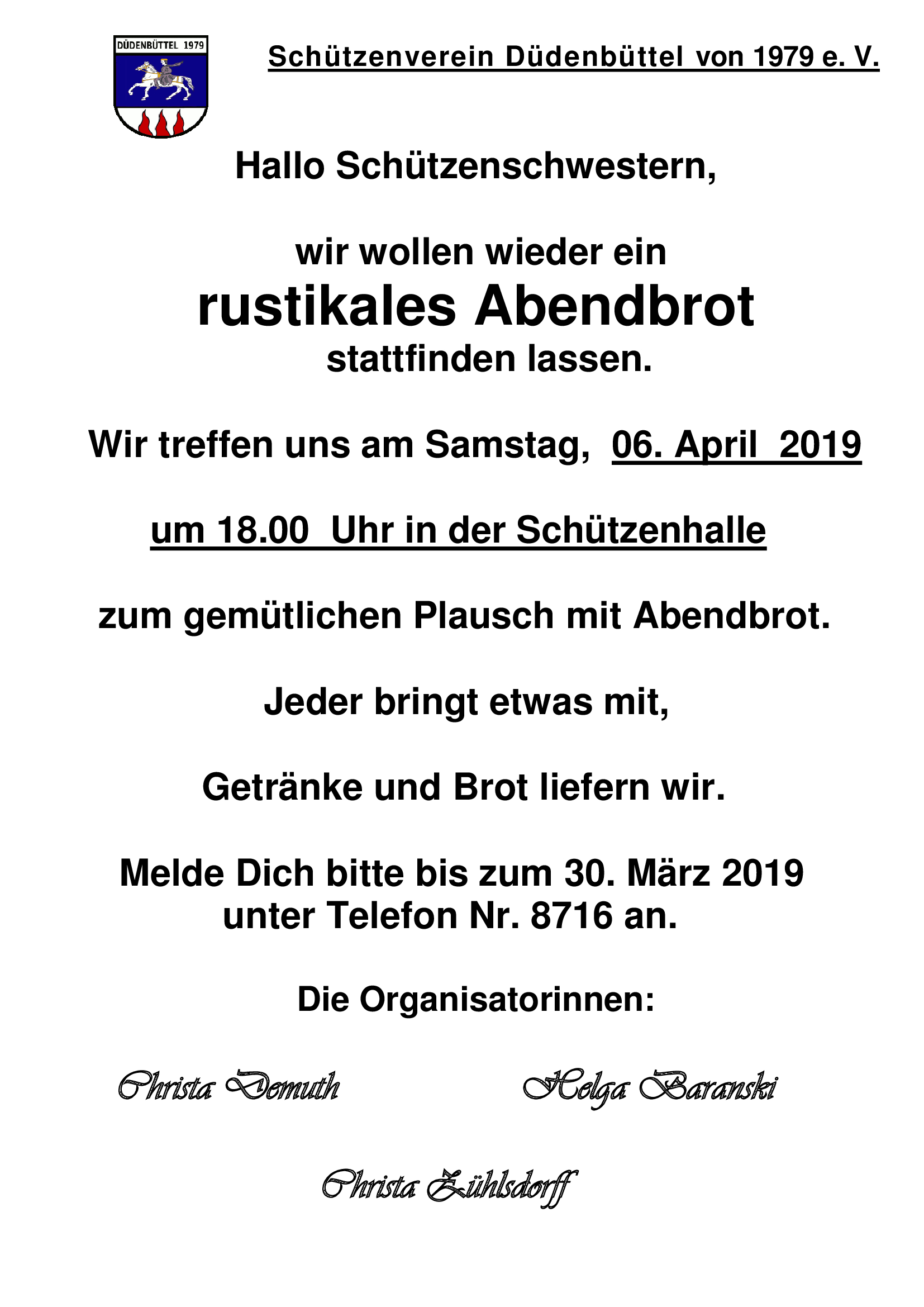 Damenabendbrot 2019
